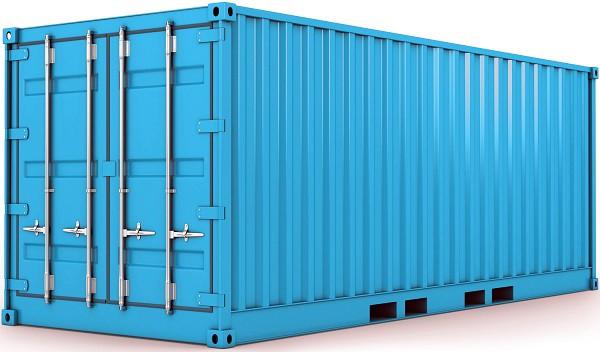 container kho màu xanh