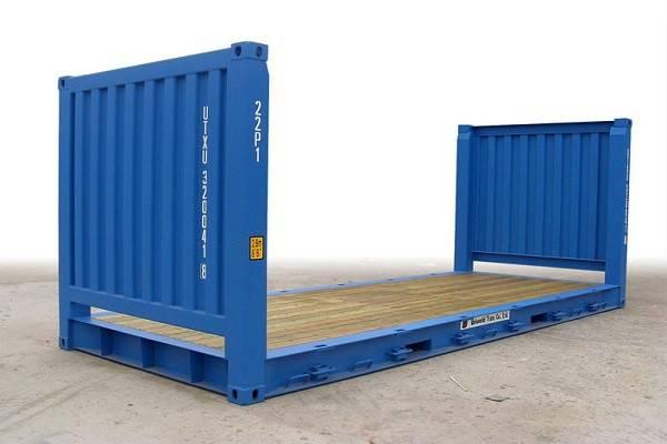 cho thuê container kho giá rẻ flat rack 20 feet