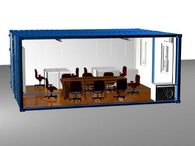 mô phỏng container xây phòng khách