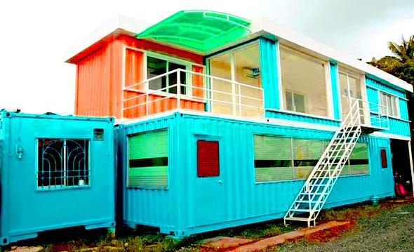 container làm nhà ở ấm cúng
