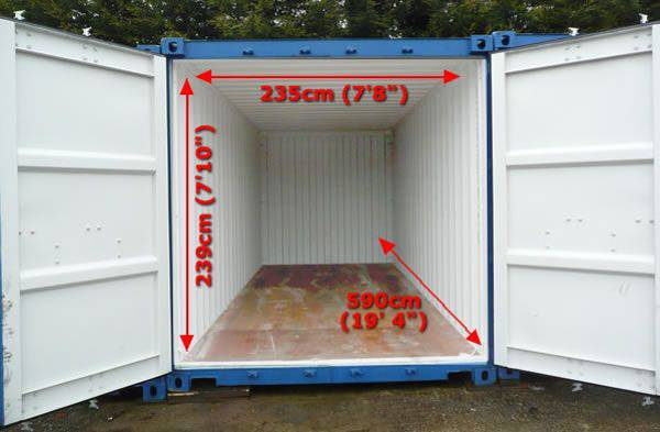 Các kích thước thùng container thông dụng