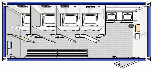 cấu trúc nhà vệ sinh container
